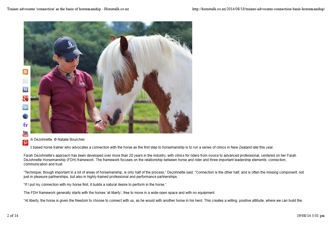 Horsetalk NZ-August 2014