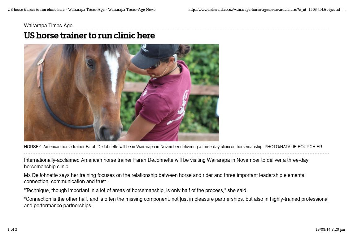 Wairarapa Times Age-August 2014